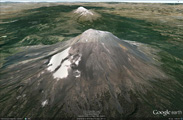 El Popocatepetl en Google Earth
